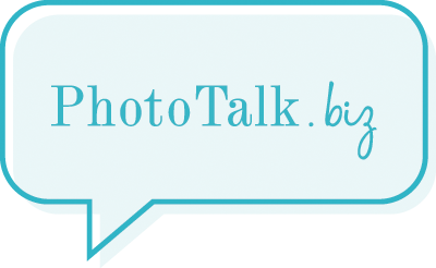 Color photo talk biz logo