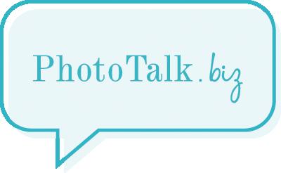 Color photo talk biz logo
